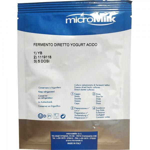 Joghurtkultur YB (starkes Aroma) 15 g (Beutel)
