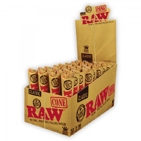 RAW Cone King Size vorgerollte Papes (3 Stück) (VE:32 Packs)