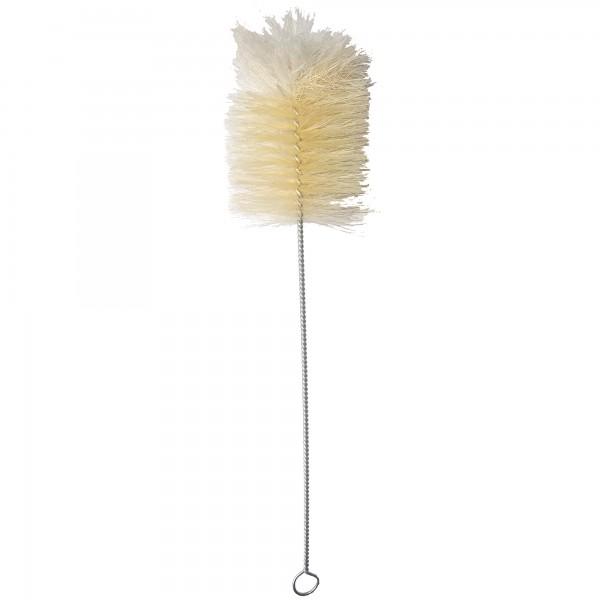 Reinigungsbürste 27 cm Naturhaar + Wollschopf ⌀ 6 cm