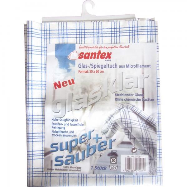 Santex Glas- und Spiegeltuch (Glasklar)