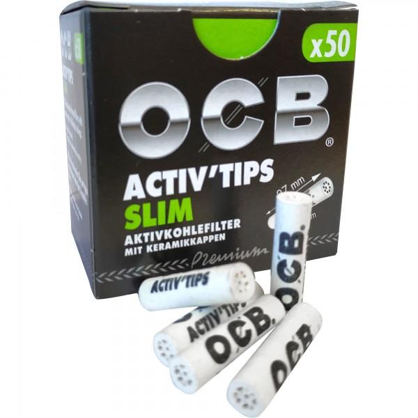 OCB Activ'Tips Aktivkohlefilter (50 Stück)