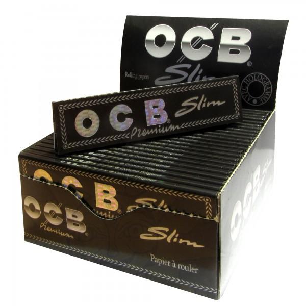 OCB Slim Premium schwarz (50 x 32 Blättchen)
