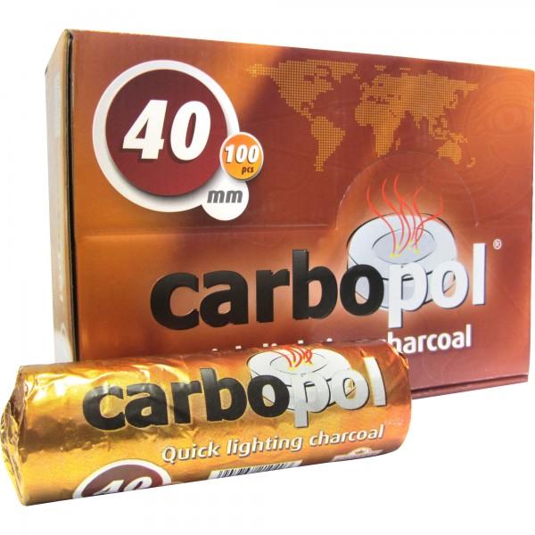 Carbopol Shishakohle 40 mm (VE:10x10 Tabs)