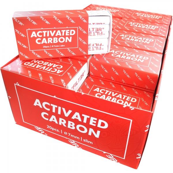 Filter Europe Activated Carbon Aktivkohlefilter 7 mm SLIM (VE:40x20 Stück)