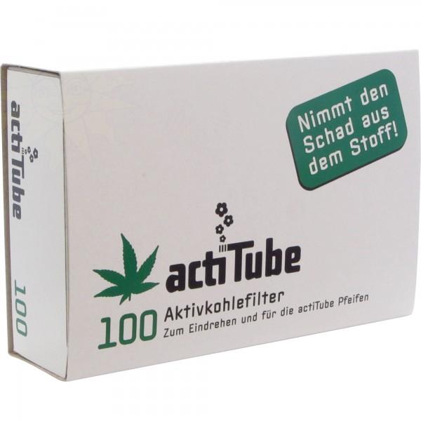 Actitube Aktivkohlefilter Pfeifenfilter 8 mm (100 Stück)