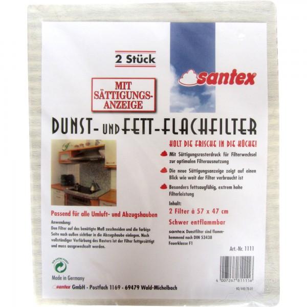 Santex Dunst- und Fett-Flachfilter (2 Stück)