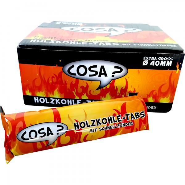 Cosa Schnellanzünder-Tabs 40 mm (10 Rollen à 10 Tabs)