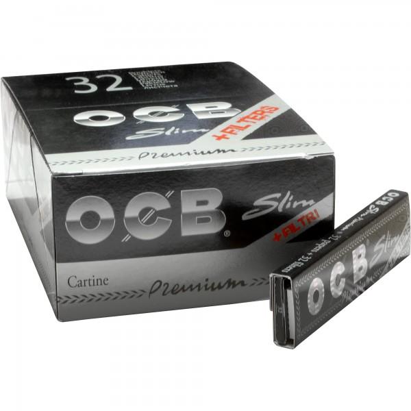 OCB Slim Premium + Tips (VE:32 Heftchen)