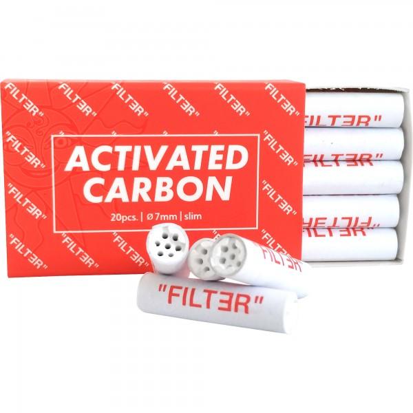 Filter Europe Activated Carbon Aktivkohlefilter 7 mm SLIM (20 Stück)