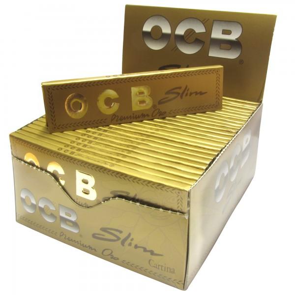 OCB Slim Premium gold (50 x 32 Blättchen)-Copy