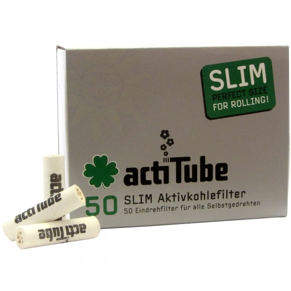 actiTube SLIM Aktivkohlefilter (50 Stück)